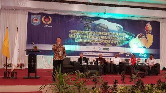 Seminar Olahraga dalam Rangka Peringatan HUT Kota Mataram ke 26